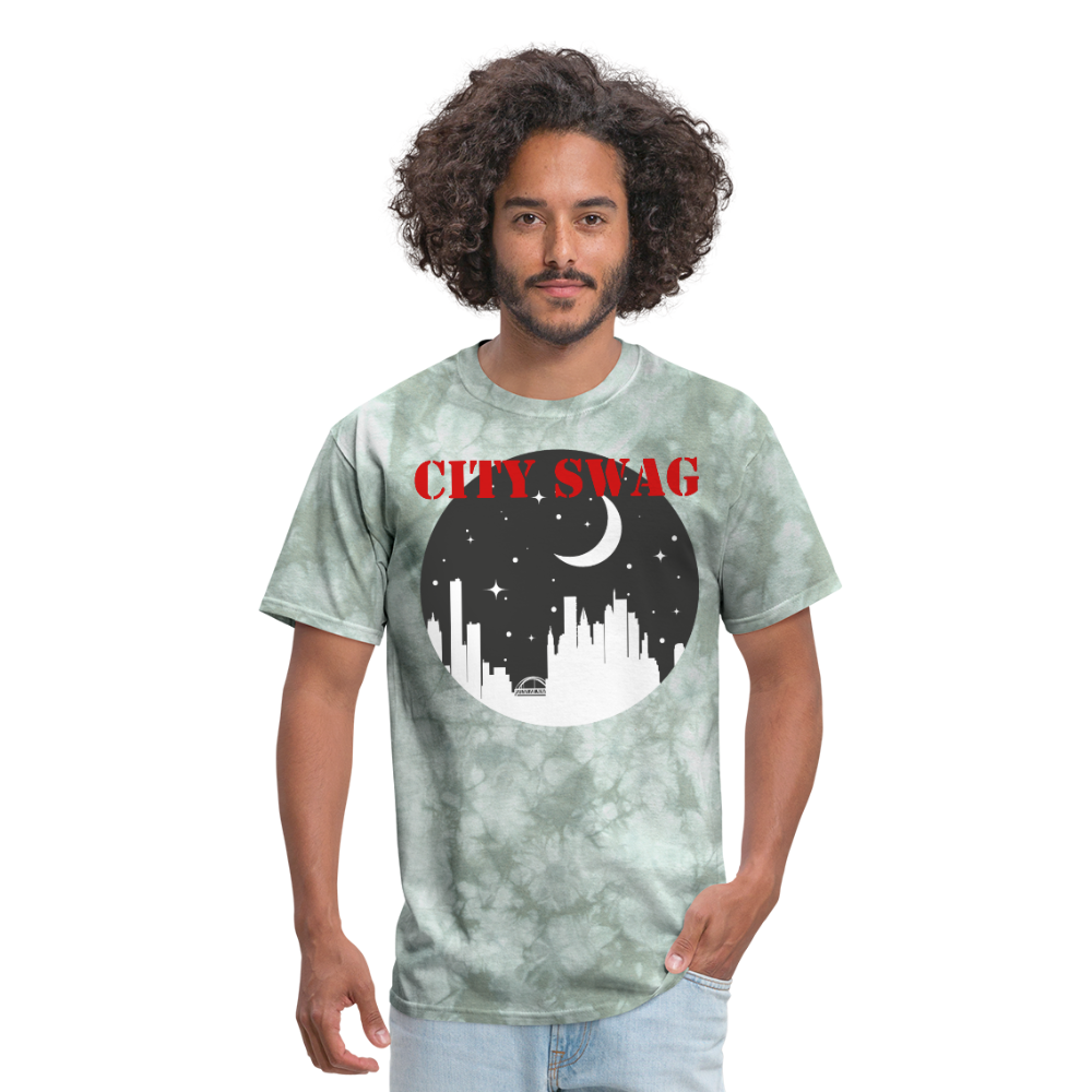 City Swag Men's T-Shirt - military green tie dye