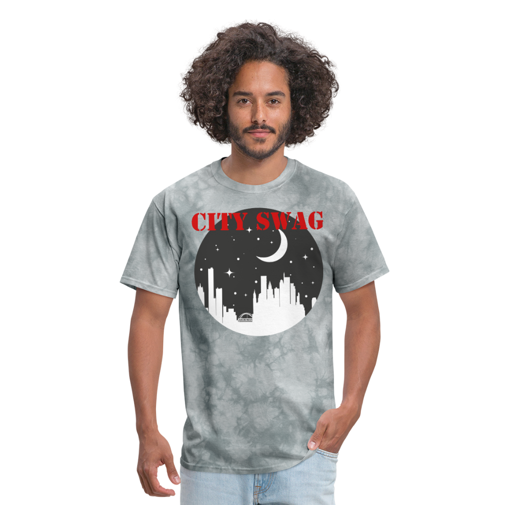 City Swag Men's T-Shirt - grey tie dye