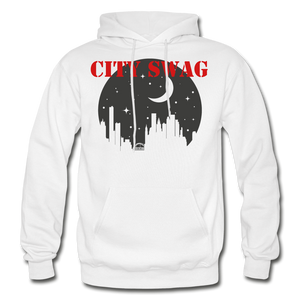 City Swag Gildan Heavy Blend Adult Hoodie - white