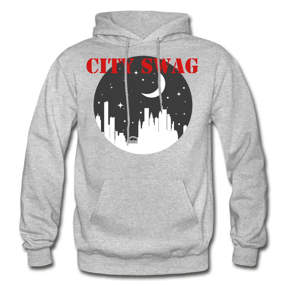 City Swag Gildan Heavy Blend Adult Hoodie - heather gray