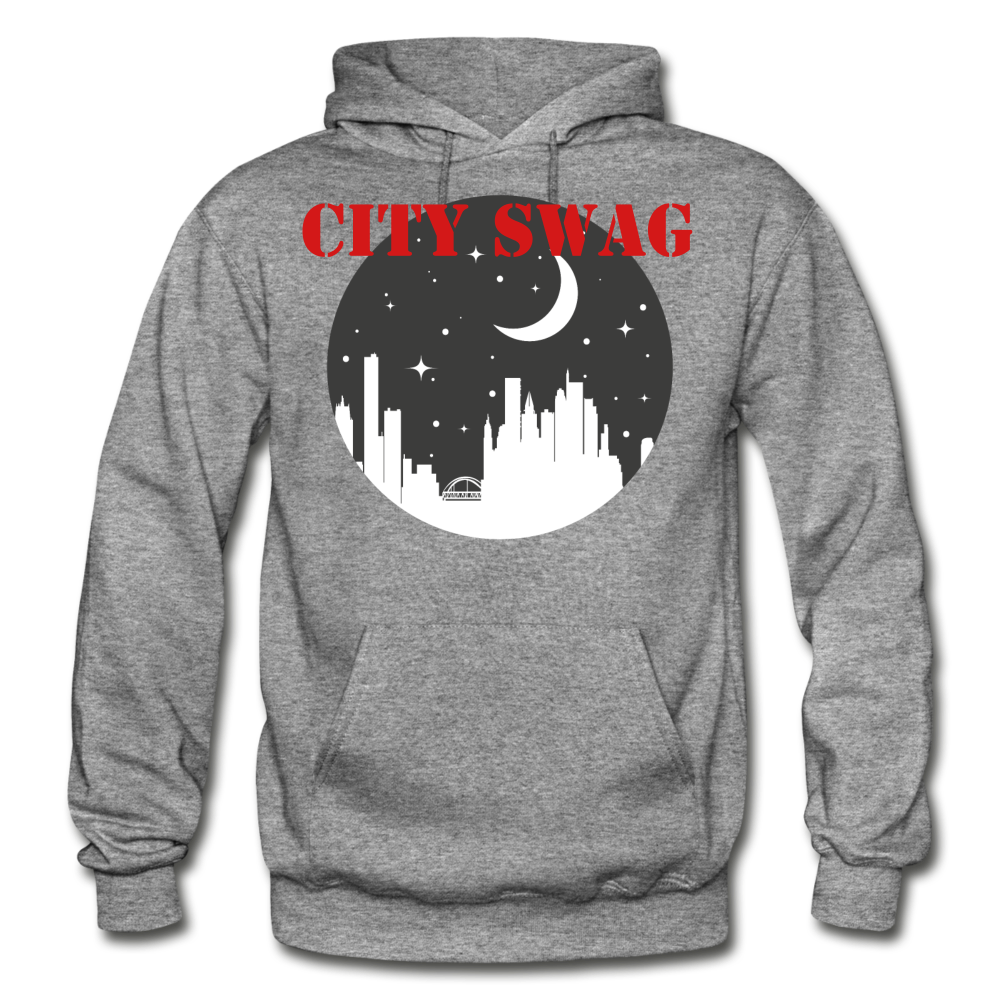 City Swag Gildan Heavy Blend Adult Hoodie - graphite heather