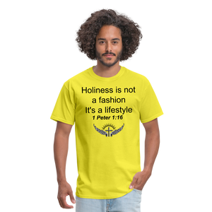 Holiness is not a fashion Men's T-Shirt - yellow