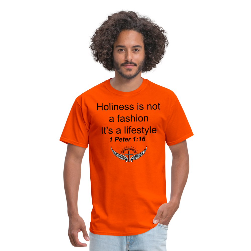 Holiness is not a fashion Men's T-Shirt - orange