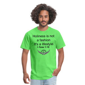 Holiness is not a fashion Men's T-Shirt - kiwi