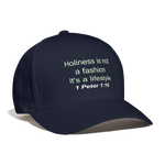 Holiness is not a fashion Unisex Baseball Cap - navy