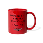 Holiness is not a fashion Full Color Mug - red