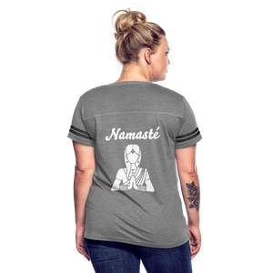 Namaste Women's Vintage Sport T-Shirt - heather gray/charcoal