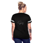 The Truth Hurts Women's Vintage Sport T-Shirt - black/white