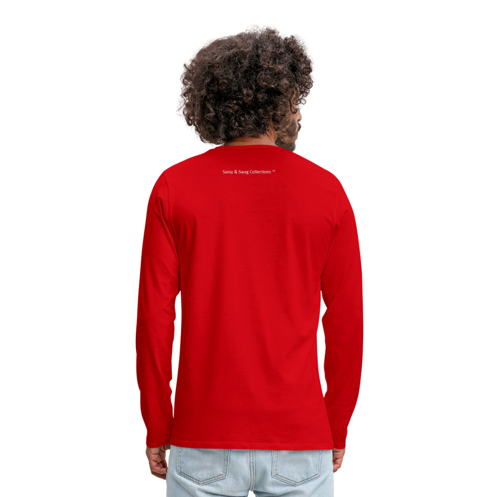 The Truth Hurts Men's Premium Long Sleeve T-Shirt - red