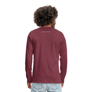 The Truth Hurts Men's Premium Long Sleeve T-Shirt - heather burgundy