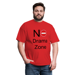 No Drama Zone Men's T-Shirt - red