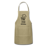 Le Chef Sassy in the Kitchen Adjustable Apron - khaki