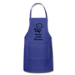 Le Chef Sassy in the Kitchen Adjustable Apron - royal blue