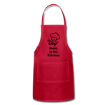 Le Chef Sassy in the Kitchen Adjustable Apron - red