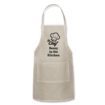 Le Chef Sassy in the Kitchen Adjustable Apron - natural