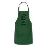 Le Chef Sassy in the Kitchen Adjustable Apron - forest green
