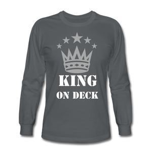 King On Deck Men's Long Sleeve T-Shirt - charcoal