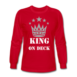 King On Deck Men's Long Sleeve T-Shirt - red