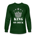 King On Deck Men's Long Sleeve T-Shirt - forest green