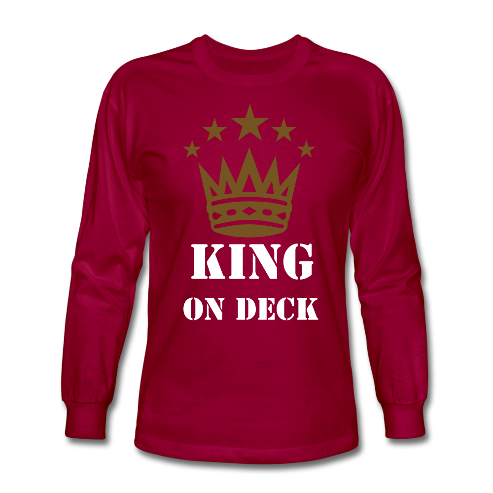 King On Deck Men's Long Sleeve T-Shirt - dark red