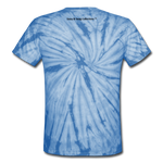 Sassy & Swag Collections Unisex Tie Dye T-Shirt - spider baby blue
