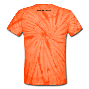 Sassy & Swag Collections Unisex Tie Dye T-Shirt - spider orange