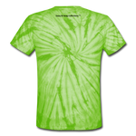 Sassy & Swag Collections Unisex Tie Dye T-Shirt - spider lime green