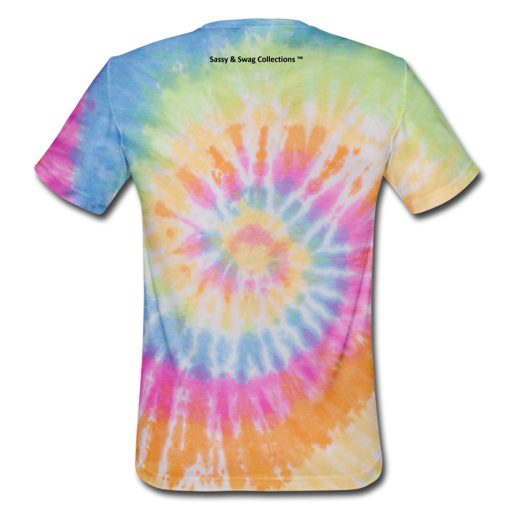 Sassy & Swag Collections Unisex Tie Dye T-Shirt - rainbow