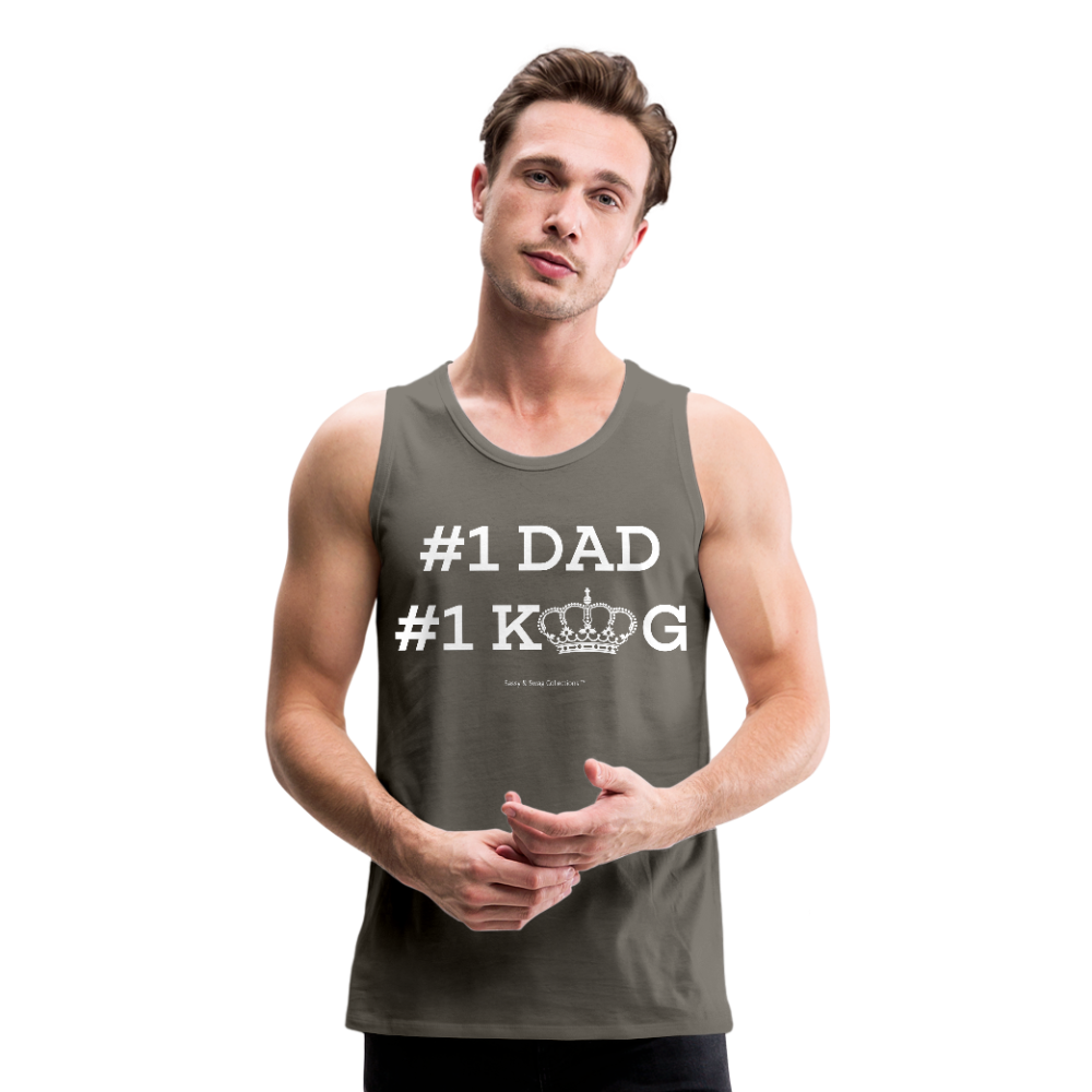 #1 DAD Men's Premium Tank - asphalt gray