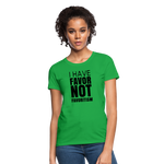I Have Favor Women's T-Shirt - bright green