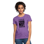 I Have Favor Women's T-Shirt - purple heather