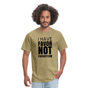 I Have Favor Men's T-Shirt - khaki