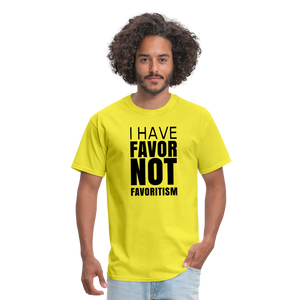 I Have Favor Men's T-Shirt - yellow