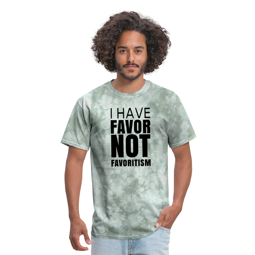 I Have Favor Men's T-Shirt - military green tie dye