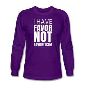 I Have Favor Men's Long Sleeve T-Shirt - purple