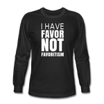 I Have Favor Men's Long Sleeve T-Shirt - black