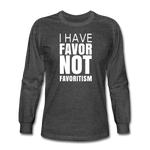 I Have Favor Men's Long Sleeve T-Shirt - heather black