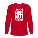 I Have Favor Men's Long Sleeve T-Shirt - red