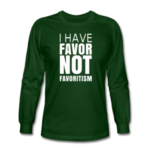 I Have Favor Men's Long Sleeve T-Shirt - forest green