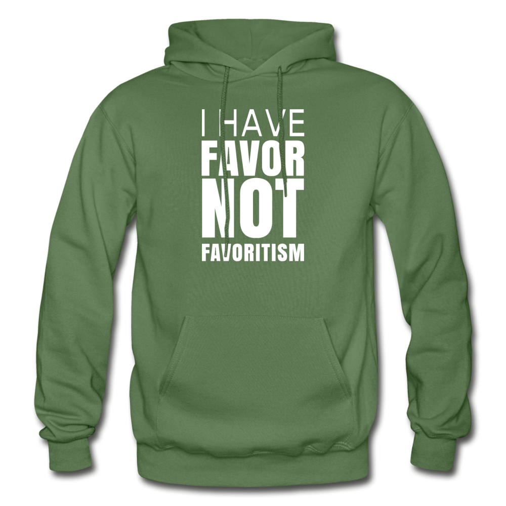 I Have Favor Gildan Heavy Blend Adult Hoodie - military green