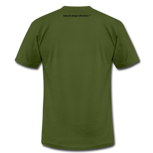 I Walk By Faith Unisex Jersey T-Shirt - olive