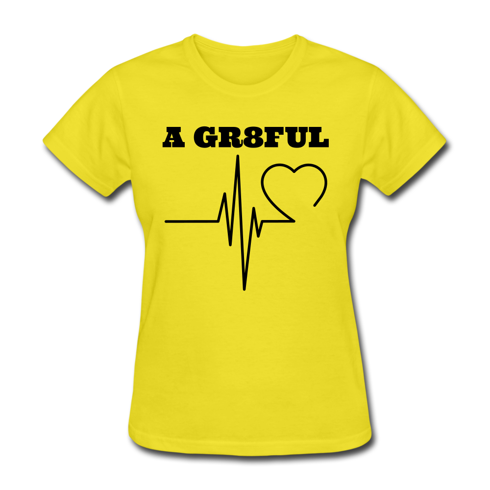 A Gr8ful Heart Women's T-Shirt - yellow