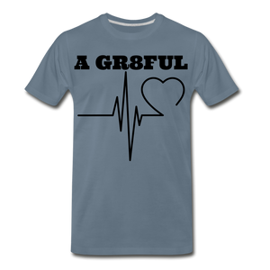 A Gr8ful Heart Men's Premium T-Shirt - steel blue