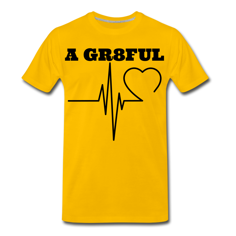A Gr8ful Heart Men's Premium T-Shirt - sun yellow