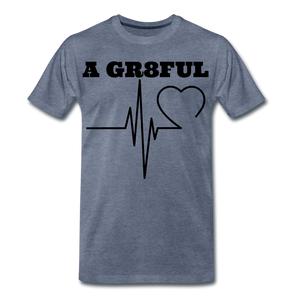 A Gr8ful Heart Men's Premium T-Shirt - heather blue