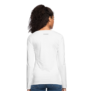 A Gr8ful Heart Women's Premium Slim Fit Long Sleeve T-Shirt - white