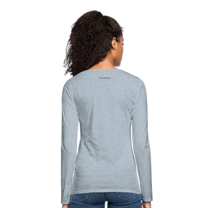 A Gr8ful Heart Women's Premium Slim Fit Long Sleeve T-Shirt - heather ice blue
