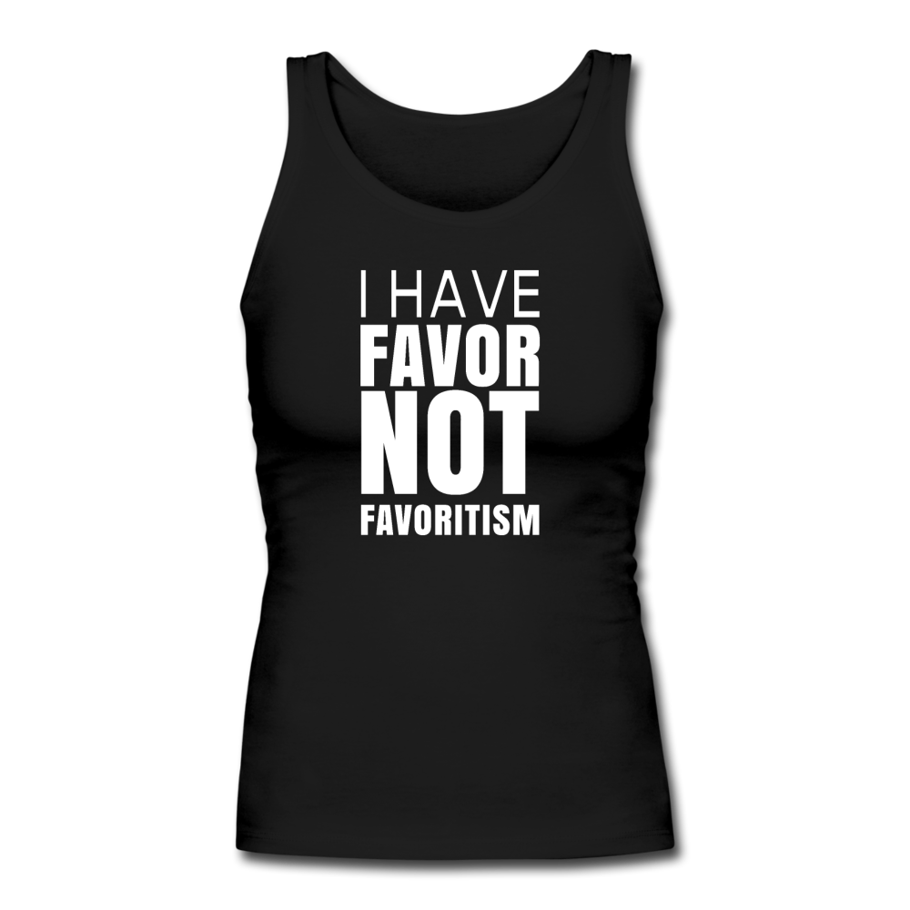 I Have Favor Women's Longer Length Fitted Tank - black