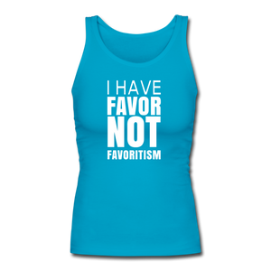 I Have Favor Women's Longer Length Fitted Tank - turquoise