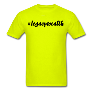 #legacywealth Unisex Classic T-Shirt - safety green